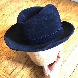 Yves Saint Laurent Midnight  Blue Felt Hat 🎩
